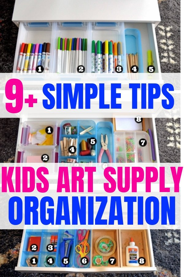 kids art supply organization art cart #artideasforkids #kidsart #artcart #artsupplies