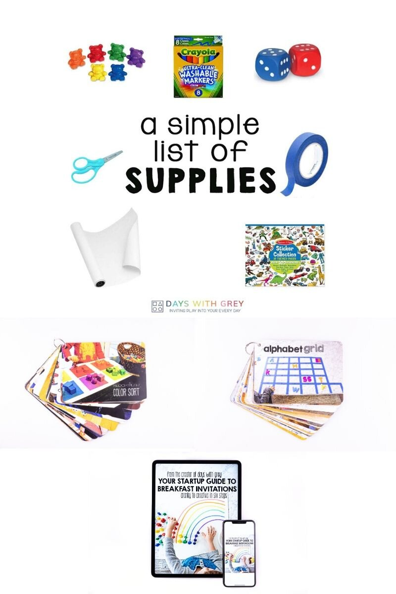 activity supplies for kids