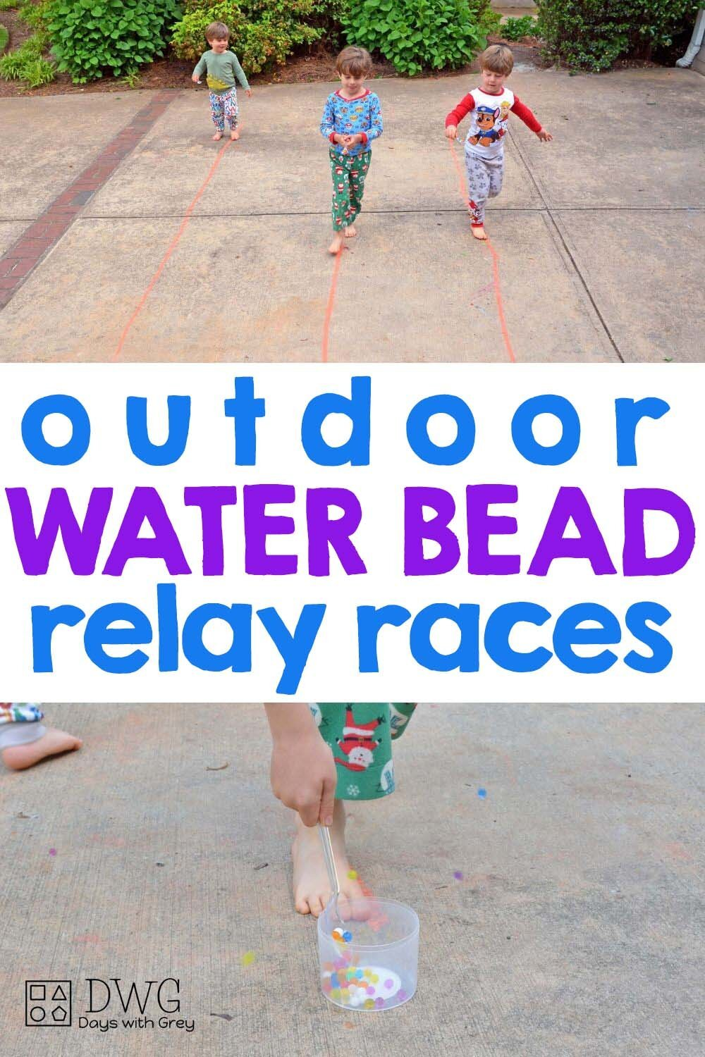 water bead outdoor play