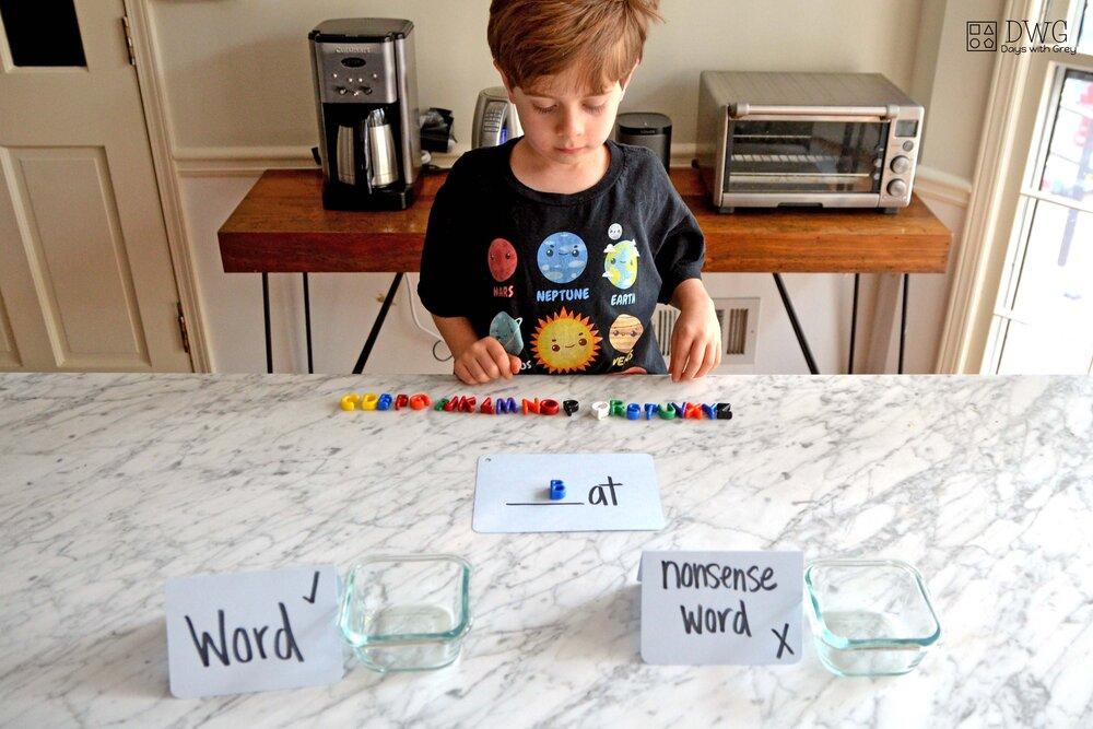 Kindergarten word family