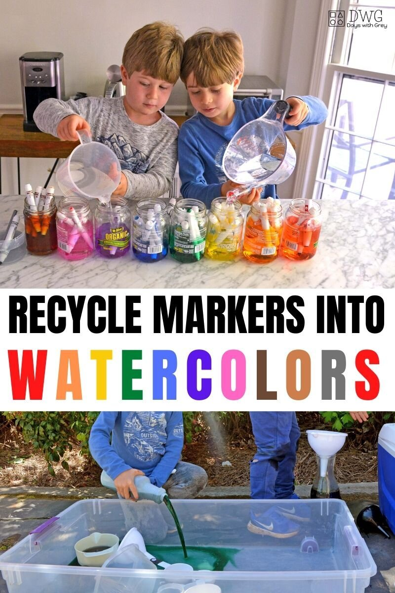 Recycle Markers into Watercolors