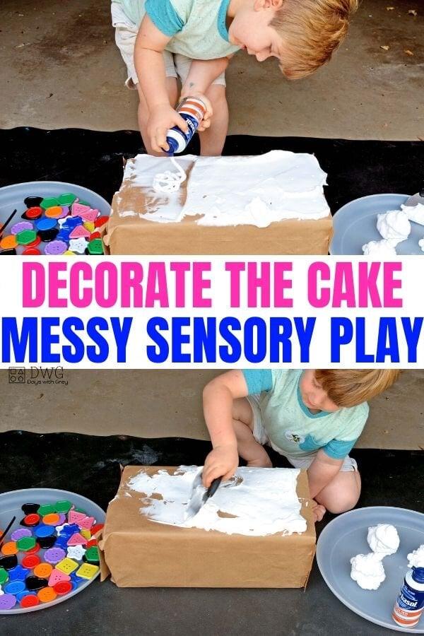 shaving cream sensory play