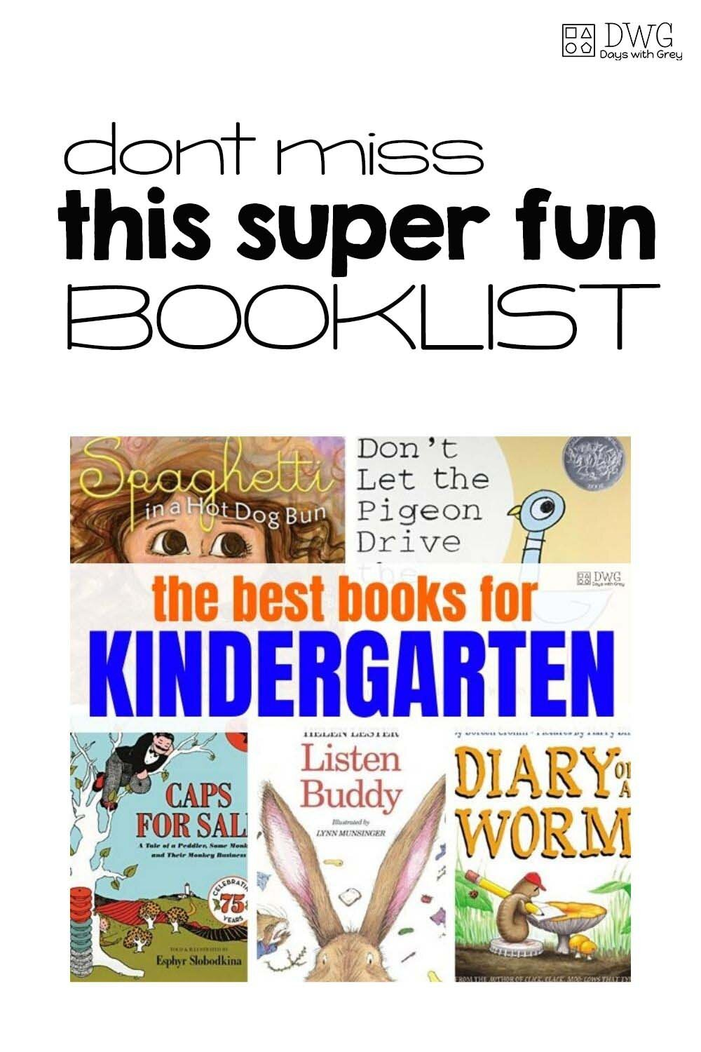 the best books for Kindergarten