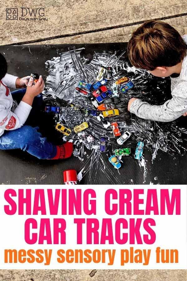 shaving cream activity