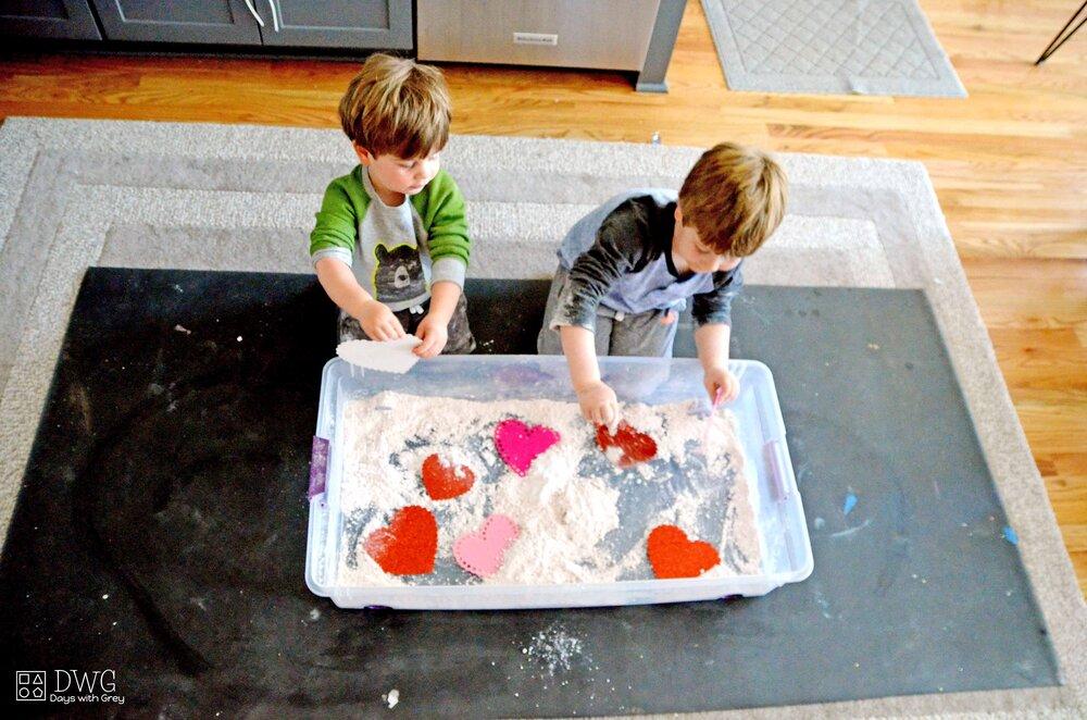 cloud dough sensory play