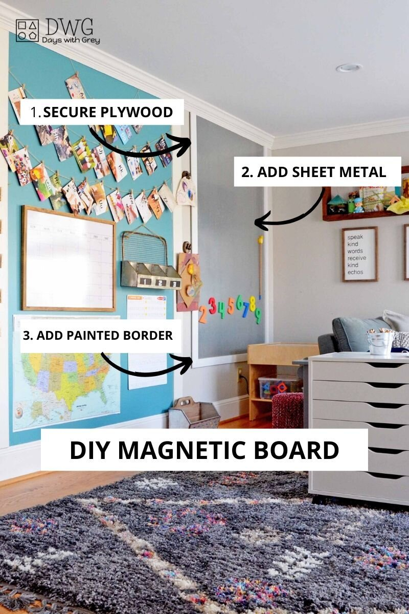 Diy Magnet Wall Days With Grey