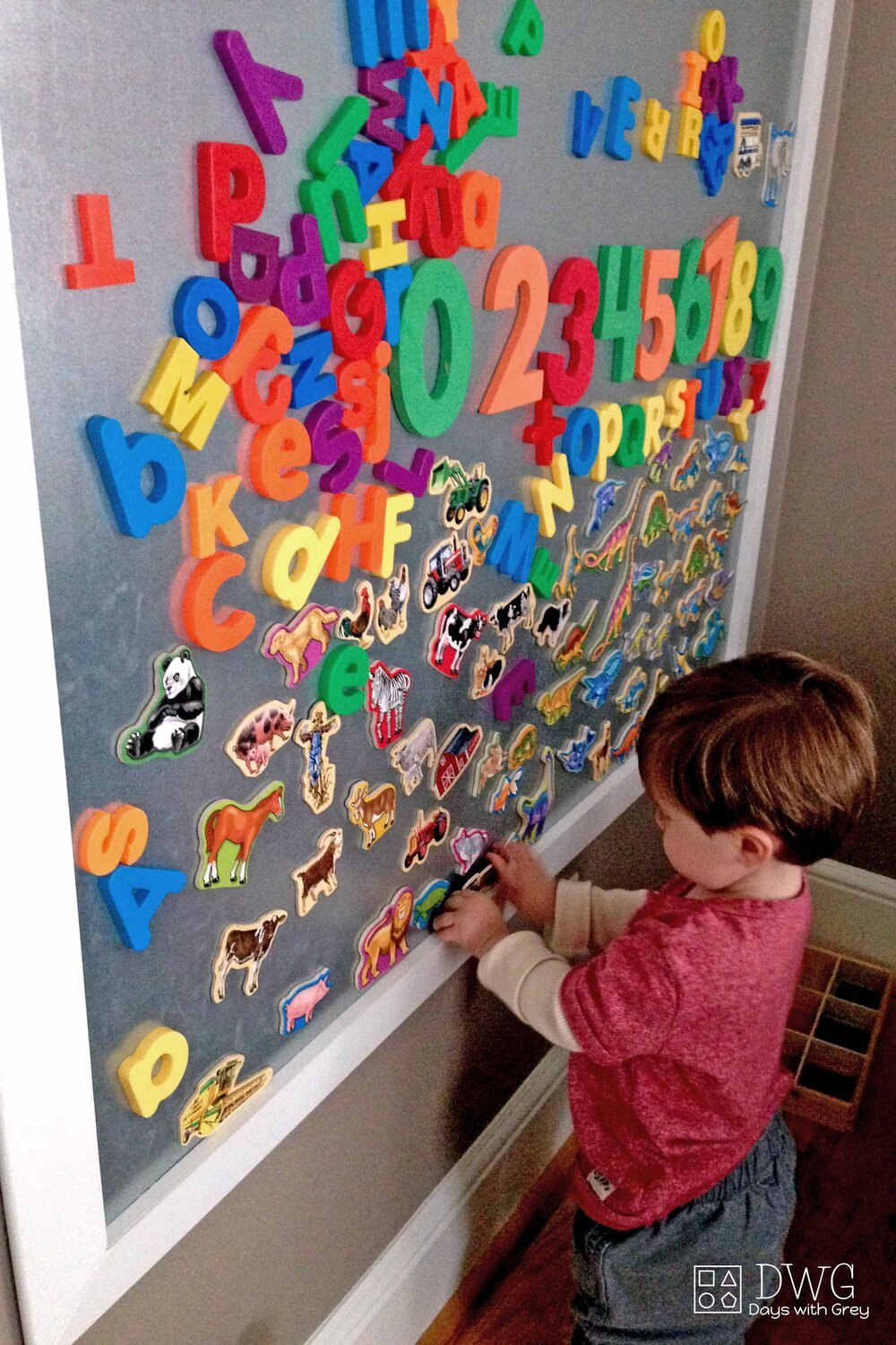Diy Magnetic Wall Days With Grey