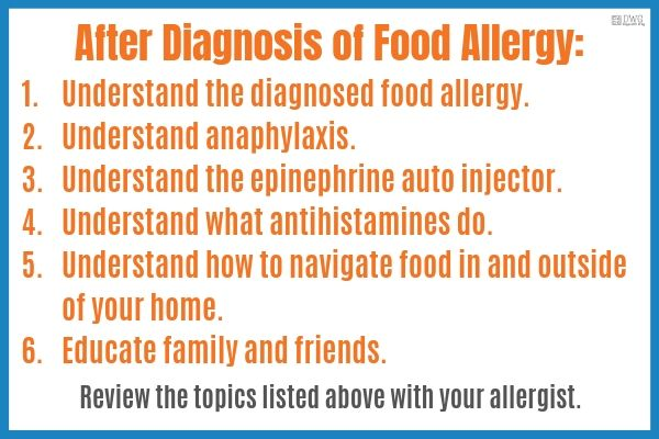 Food allergy plan for kids