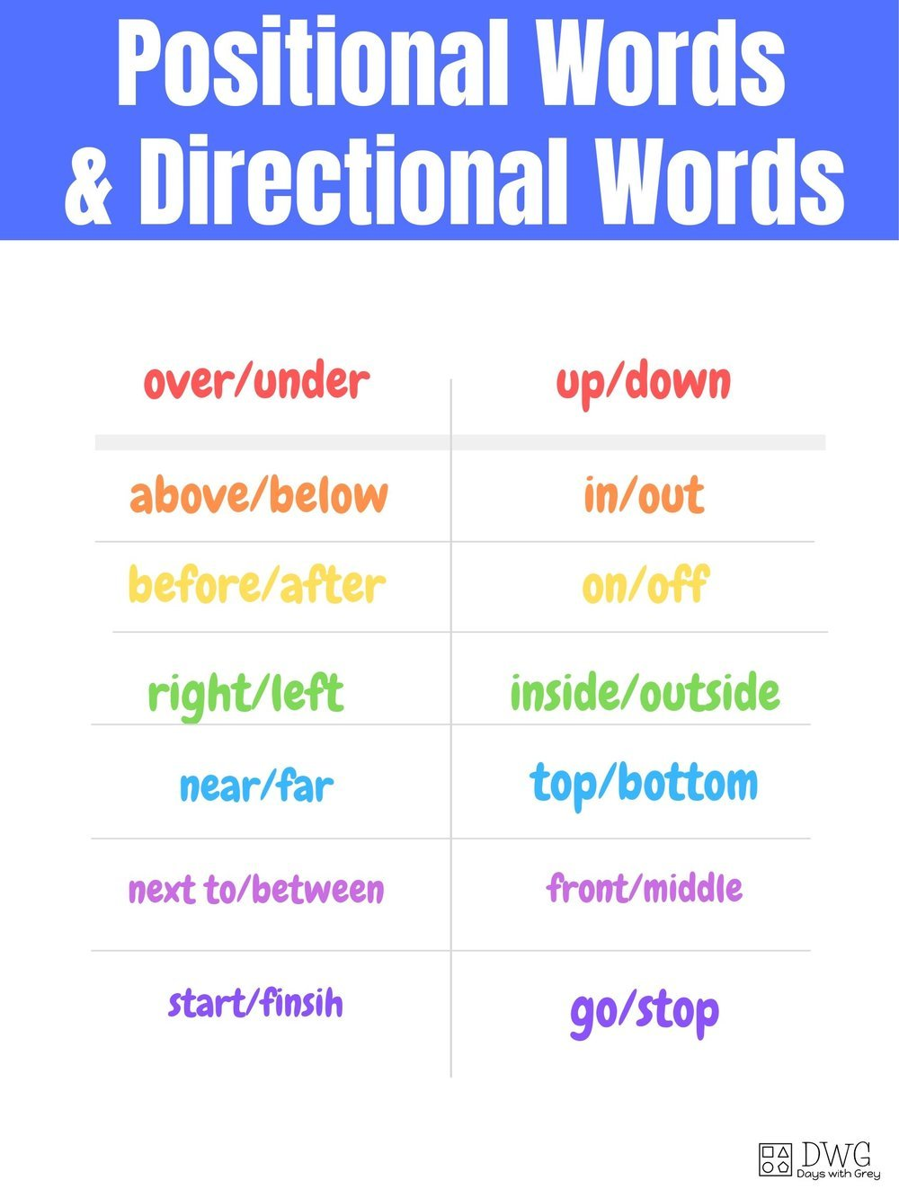positional words for two-year-olds