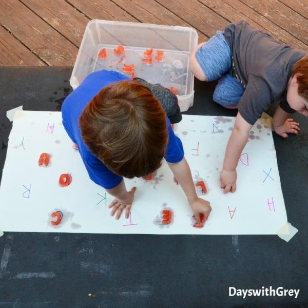 alphabet ice play