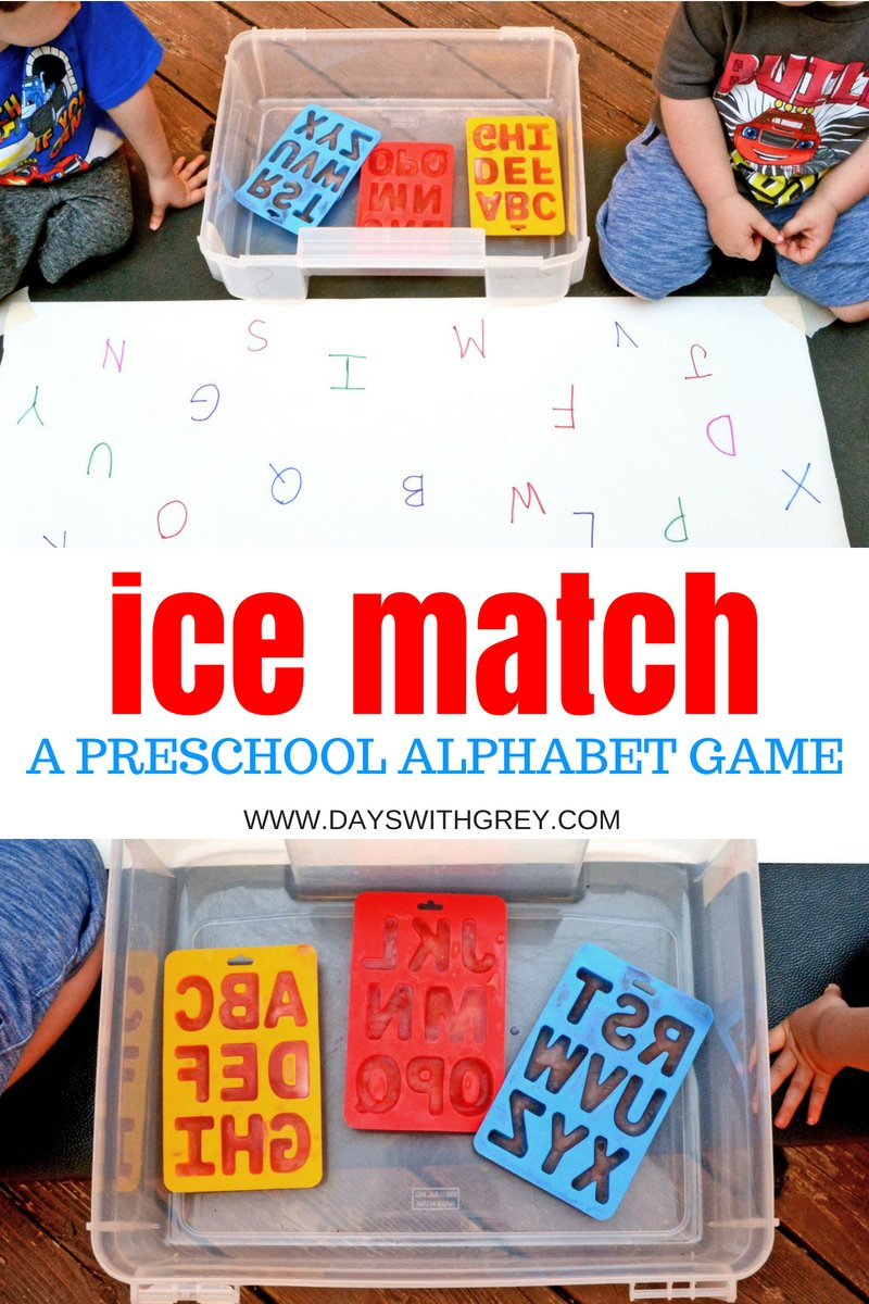 alphabet ice play for kids
