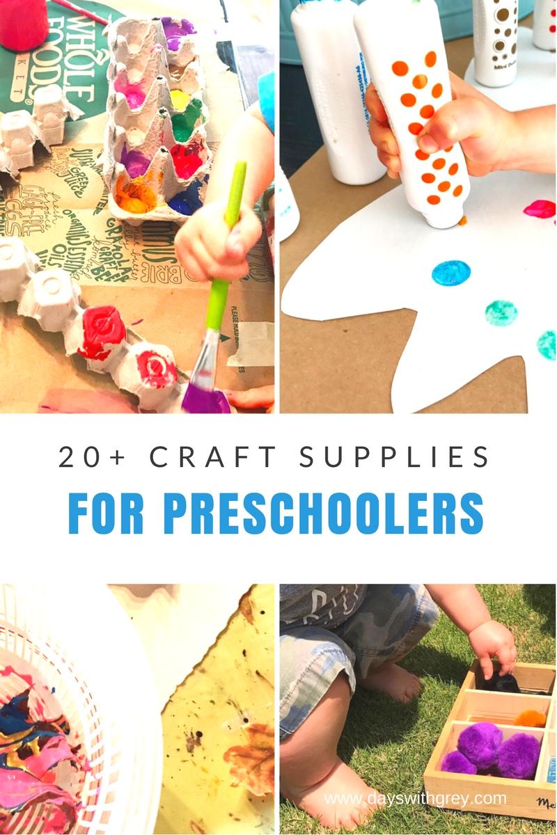 preschool craft supplies