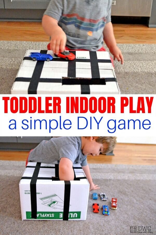 Indoor toddler learning game