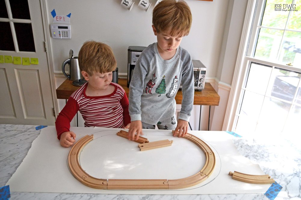 wooden train track ideas