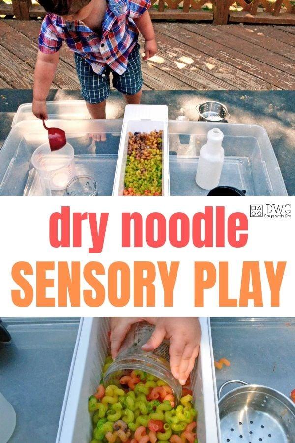noodle sensory play noodle sensory play, how to color dry noodles, #sensoryplay #sensorylearning, #toddler #preschooler #montessori