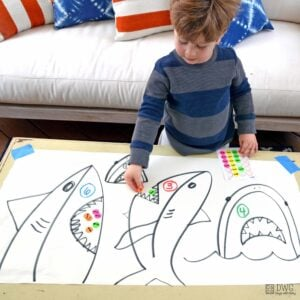 Feed the Sharks; a Counting Activity for Preschoolers