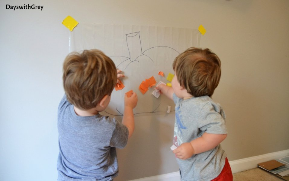 easy toddler activity for fall