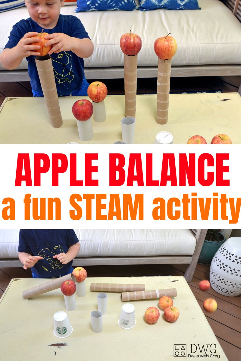 STEAM fall balance activity for kids