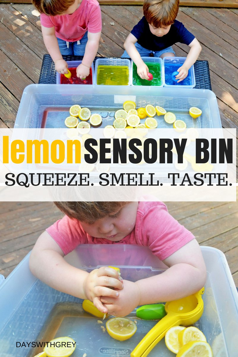 sensory bin for toddlers and preschoolers