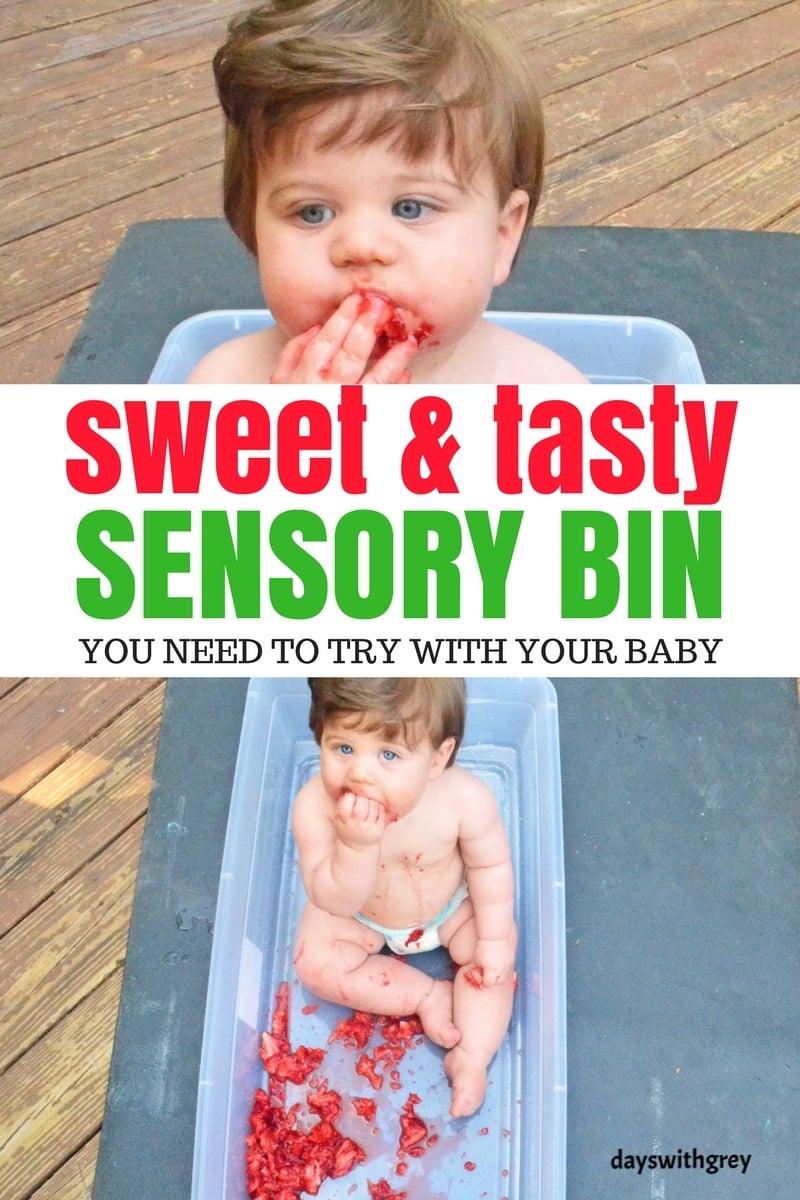 edible baby sensory bin