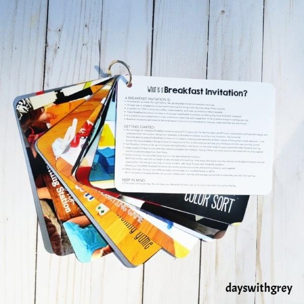 Preschool Breakfast Invitation Cards