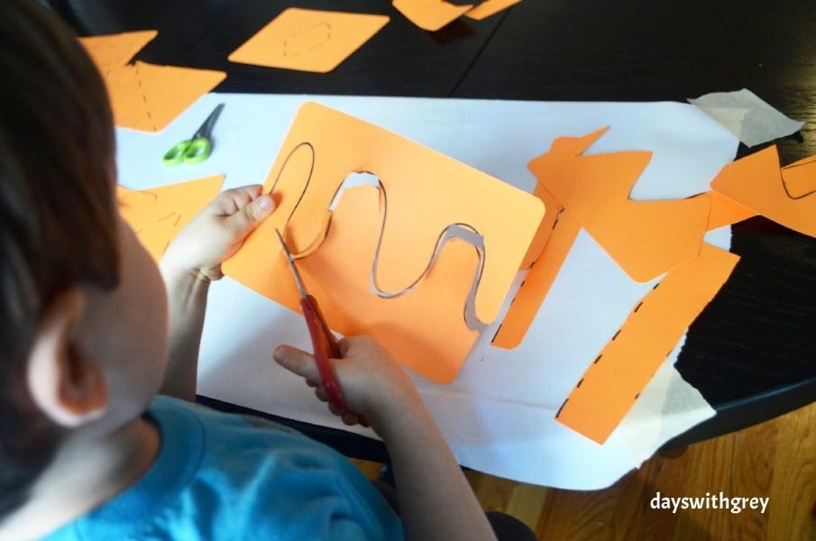 preschool cutting practice and scissor skills