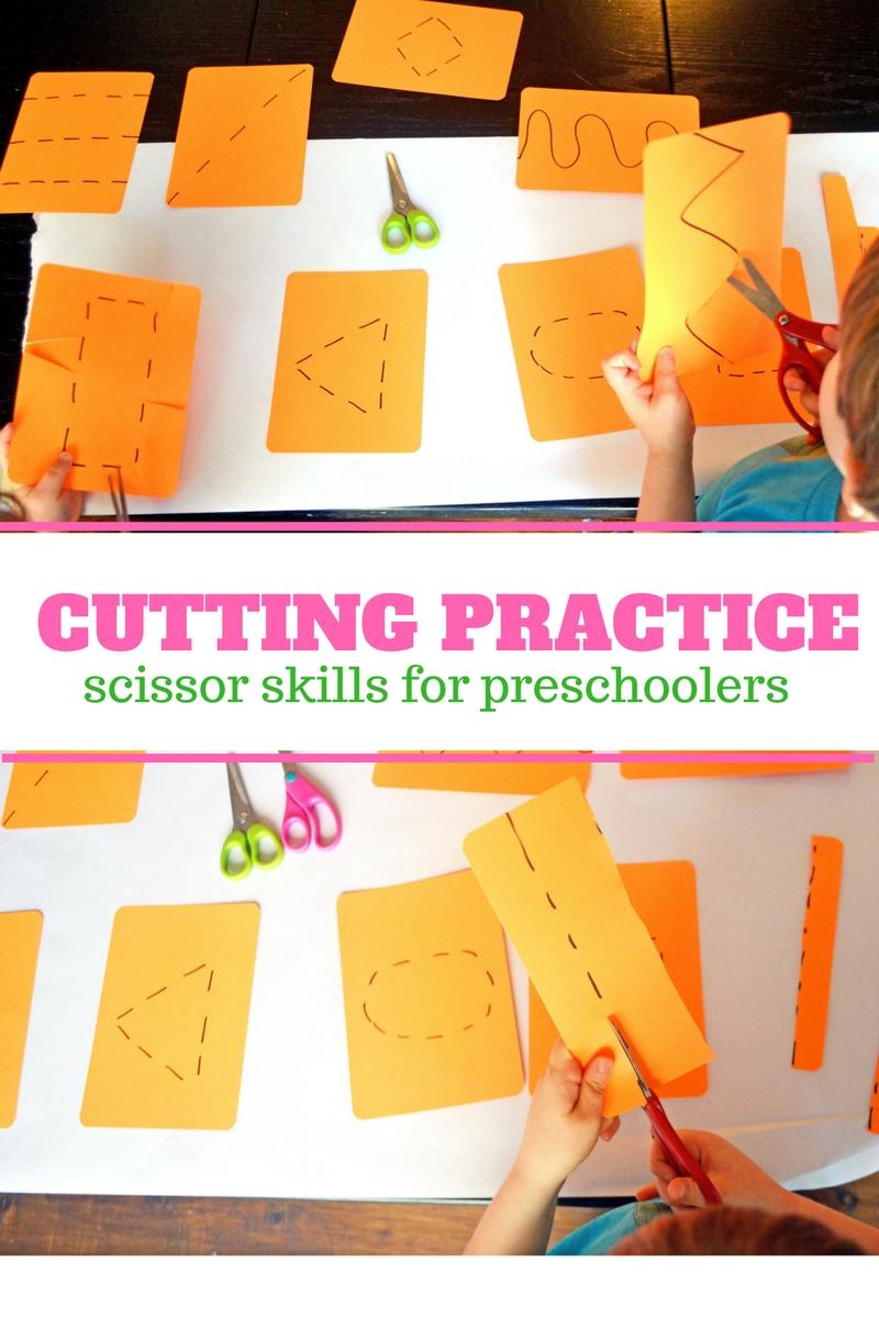 cutting practice and scissor skills