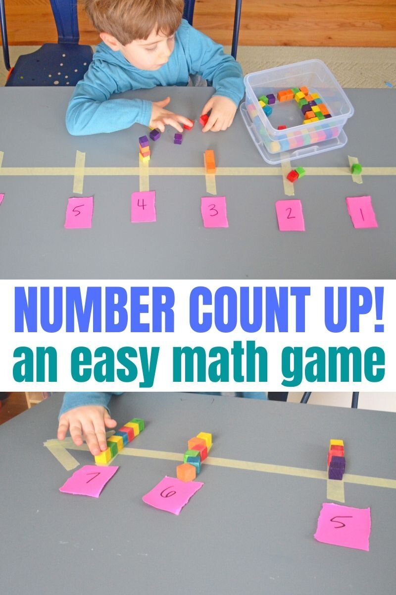 Count Up! An Easy Math Game for Preschoolers - Days With Grey