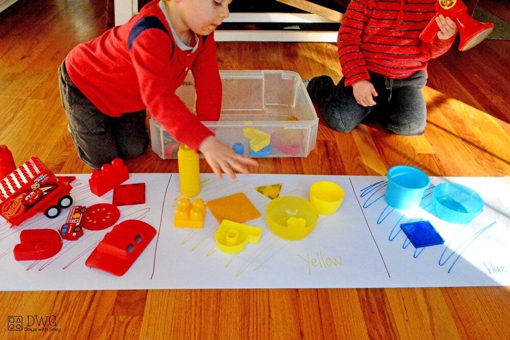 color activity for preschool