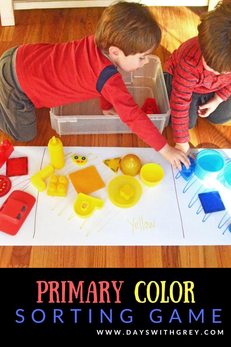 color activities for preschool