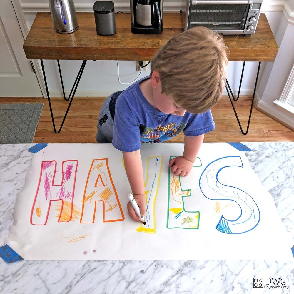 name activities for preschool