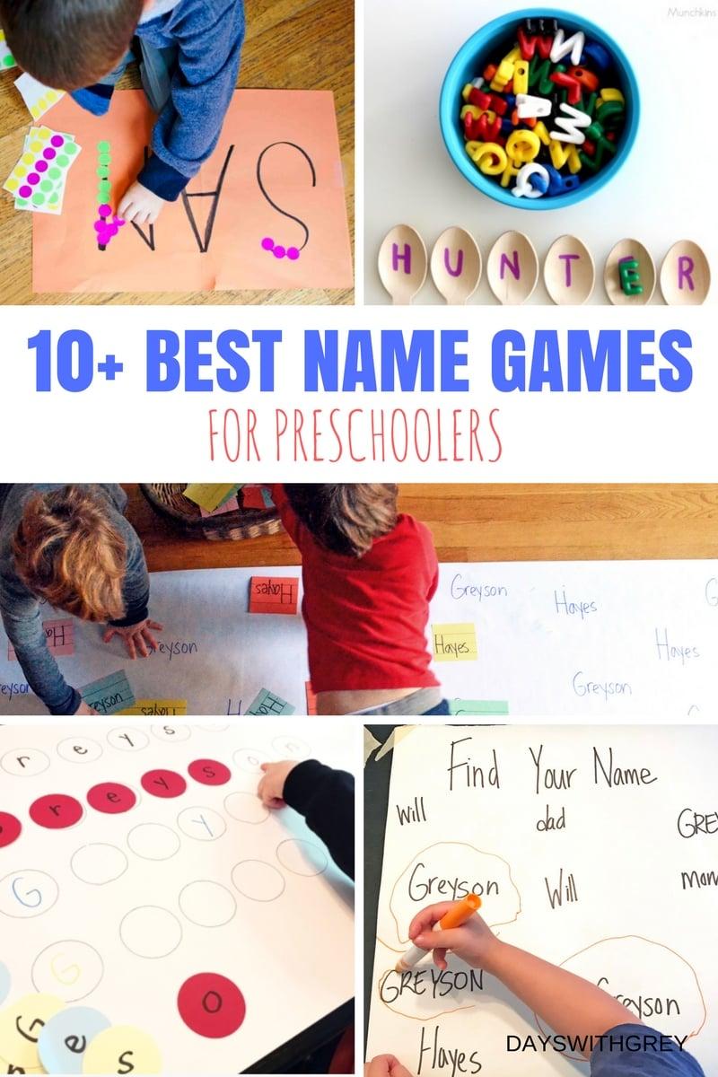 name activities for preschool