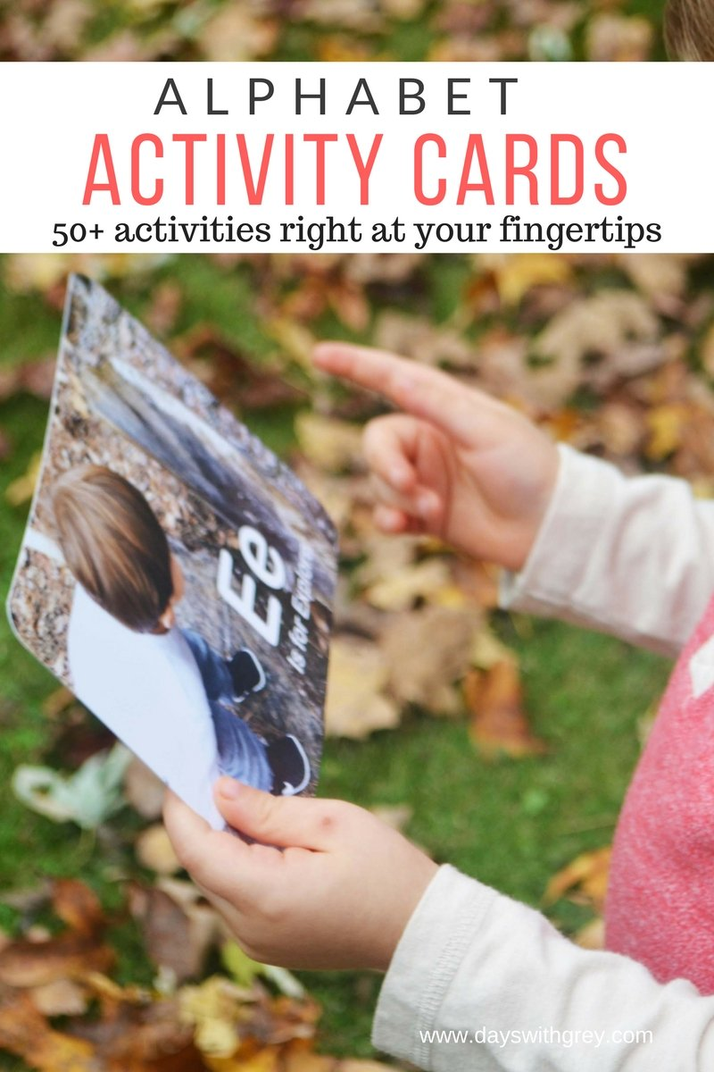 preschool alphabet activity cards