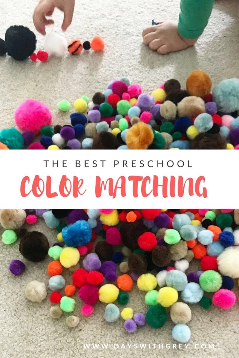 preschool matching activity