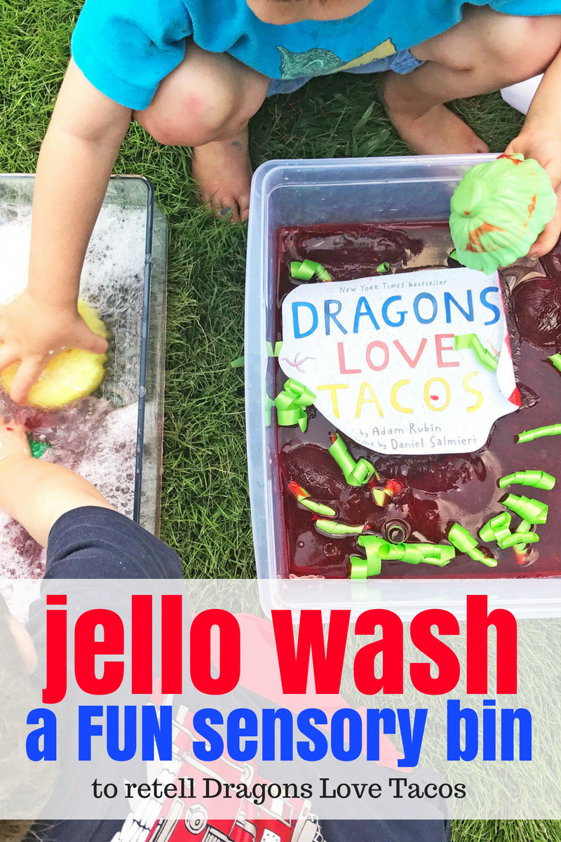 Dragons Love Tacos Sensory Bin