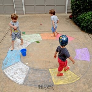 Outdoor Game for Toddlers; a Musical Scavenger Hunt