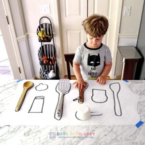 Kitchen Match-Up: An Easy Toddler Activity