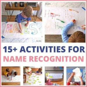 15+ Ways to Practice Name Recognition with your Preschooler