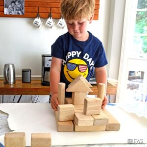 Block Play for Your Next Breakfast Invitation