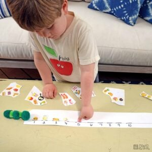 Simple Counting Activity with the Hungry Caterpillar