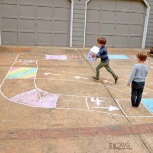 Chalk Game for Outdoor Play