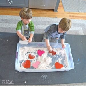 Find the Hidden Hearts: Cloud Dough Sensory Play