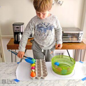 Egg Drop – a Fine Motor Easter Activity