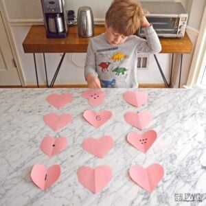 Heart Match Counting Activity