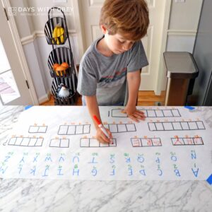 Secret Message: a Kindergarten Word Activity