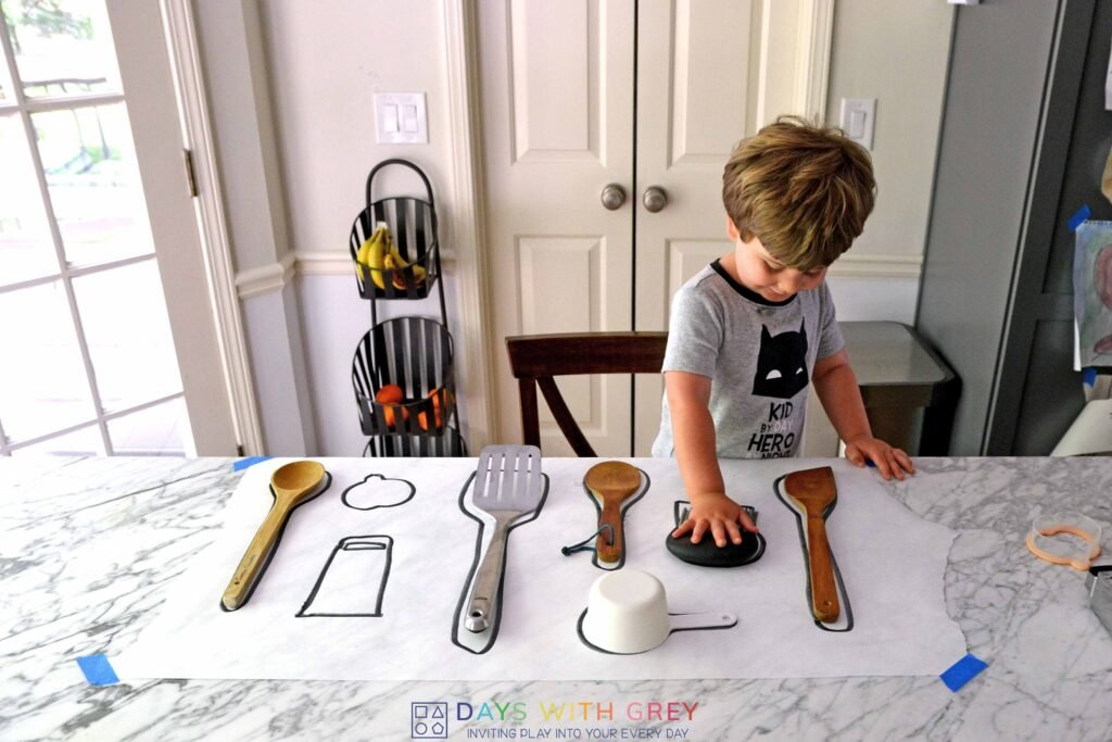 kitchen match-up for toddlers