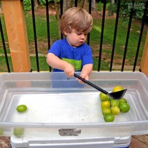 Scoop the Limes – Toddler Water Play