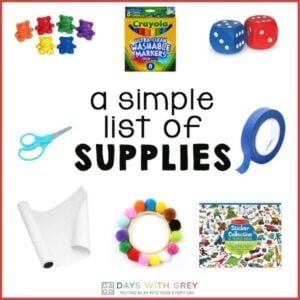 A Simple List of Supplies