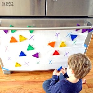 Color and Shape Match: a Toddler Math Activity