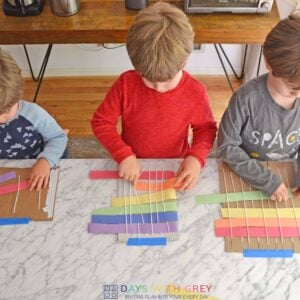 Simple Rainbow Weaving for Kids